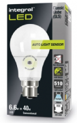 Dusk to dawn bulbs |Daylight Sensor Lamp| LED 40-60W Equivalent |Cool White| INTEGRAL LED